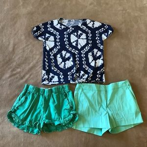 Girls Clothing Lot of 3 J Crew Crewcuts Pieces 10